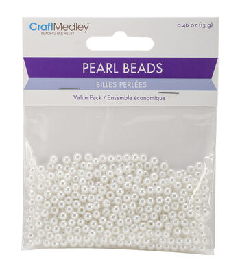 Craft Medley Pearl Beads Value Pack 4mm