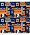 Auburn University Tigers Fleece Fabric -Block