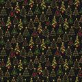 Christmas Cotton Fabric-Glitter Christmas Trees