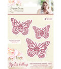 Crafter\u0027s Companion Rustic Cottage Decorative Metal Die-Chic Butterflies