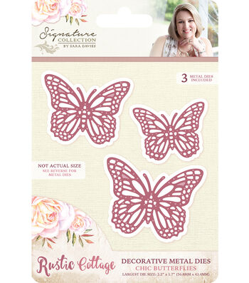 Crafter's Companion Rustic Cottage Decorative Metal Die-Chic Butterflies