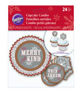 Wilton 24-Piece Cupcake Combo Pack-Snowflake Wishes