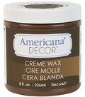 DecoArt Americana Decor Creme Wax 8oz-Deep Brown