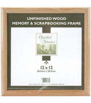 Darice Wooden Memory Frame 12X12-Unfinished, , hi-res