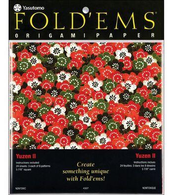 Fold 'Ems Origami Paper-24PK/Yuzen II