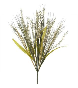 Blooming Autumn 21'' Heather & Onion Grass Bush-Cream