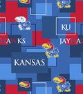 University of Kansas Jayhawks Cotton Fabric -Modern Block