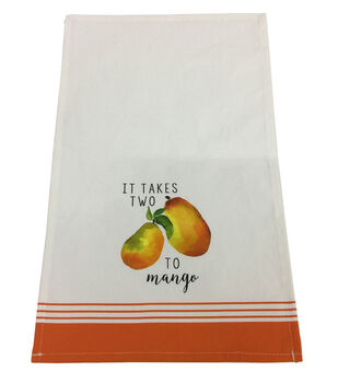 Simply Spring Kitchen Towel-It Takes Two to Mango