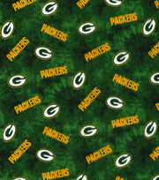 "Green Bay Packers Flannel Fabric 42""-Tie Dye, , hi-res"