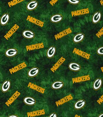 "Green Bay Packers Flannel Fabric 42""-Tie Dye"
