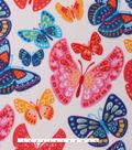 Blizzard Fleece Fabric 59\u0027\u0027-Summer Butterflies
