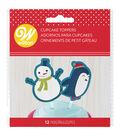 Wilton 12ct Cupcake Topper Picks-Snowman and Friends