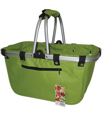 JanetBasket Lime Large Aluminum Frame Bag