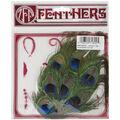 Feather Peacock Eye Fringe Pad 4.5\u0022X5\u0022-