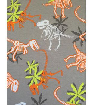 Doodles Juvenile Apparel Fabric 57''-Dinosaur Park Interlock