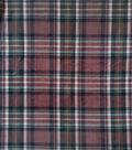 Anti-Pill Plush Fleece Fabric-Everest Brown Plaid