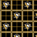Pittsburgh Penguins Flannel Fabric -Plaid