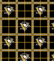 Pittsburgh Penguins Flannel Fabric -Plaid, , hi-res