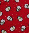 Holiday Showcase Christmas Cotton Fabric 43\u0027\u0027-Cold Penguins on Red