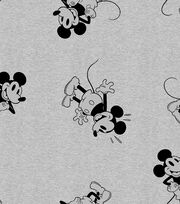 Disney Mickey Mouse Knit Fabric 58''-Tossed, , hi-res