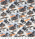 Novelty Cotton Fabric-What Happens In The Garage
