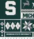 Michigan State Spartans Fleece Fabric-Sweater