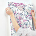 York Wallcoverings Wallpaper-Pink & Blue Bohemian