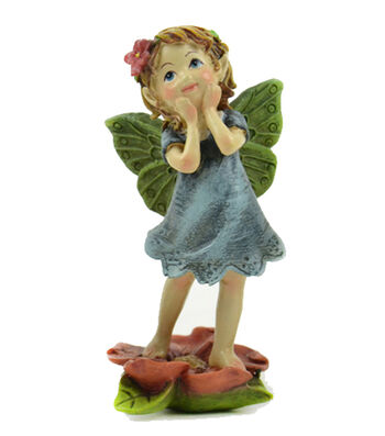 Bloom Room Littles Polyresin Fairy in Blue Dress