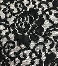 Stretch Lace Knit Fabric 56\u0022-Black