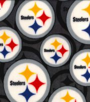 Pittsburgh Steelers Fleece Fabric -Logo, , hi-res