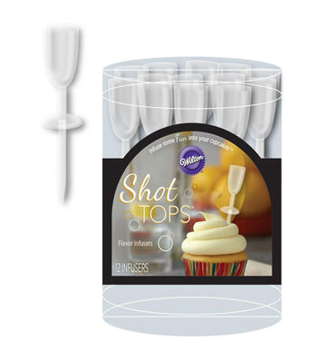 Wilton Pack of 12 Shot Tops-Champagne Flute