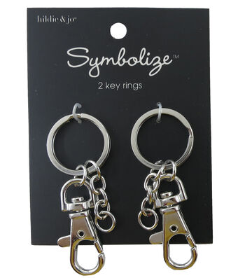 hildie & jo Symbolize 2 Pack Silver Key Rings