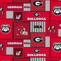 Georgia Bulldogs Fleece Fabric-College Patches