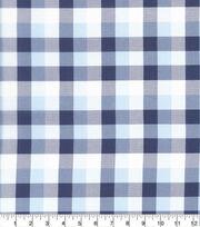Keepsake Calico Cotton Fabric-Multi Large Check Navy Gray, , hi-res