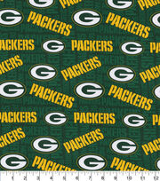 Green Bay Packers Cotton Knit Fabric, , hi-res
