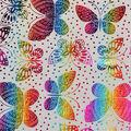 Novelty Cotton Fabric-Butterflies Rainbow Foil