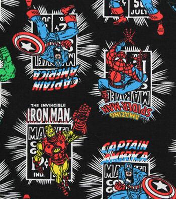 "Marvel Comics Knit Fabric 58""-Heroes"