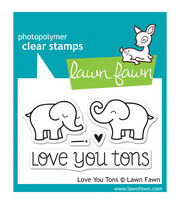 "Lawn Fawn Clear Stamps 3""X2""-Love You Tons, , hi-res"