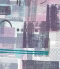 Modern Cotton Fabric 43\u0027\u0027-Shapes on Amethyst