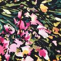 Fast Fashion Bubble Crepe Knit Fabric-Black Iris