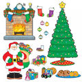 Christmas Scene Bulletin Board Set, 59 Pieces