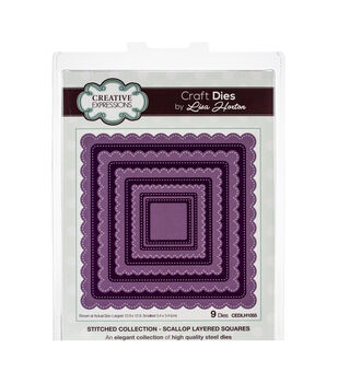 Creative Expressions Stitched Craft Dies By Lisa Horton-Scallop Square