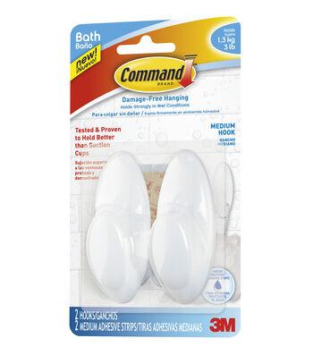 Command Medium Bath Hooks
