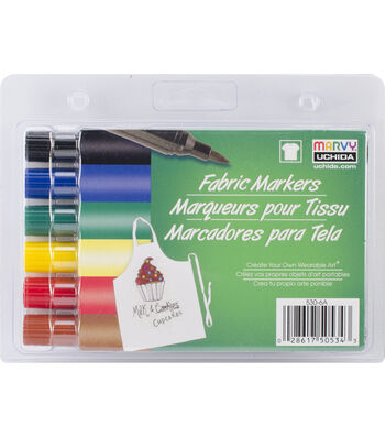 Marvy Uchida Fabric Marker Broad Tip 6/pkg