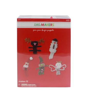 Little Makers Pom Pom Finger Puppets-10Pk