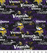 Minnesota Vikings Cotton Fabric-Distressed, , hi-res