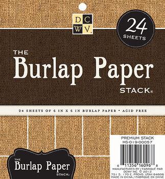 "DCWV 6""x6"" Burlap Paper Stack"