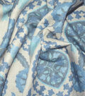 P/K Lifestyles Upholstery Fabric 13x13\u0022 Swatch-Global Attraction Indigo