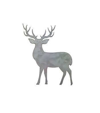Hampton Art Galvanized Icon-Deer