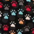 Blizzard Fleece Fabric -Paw Prints And Dots